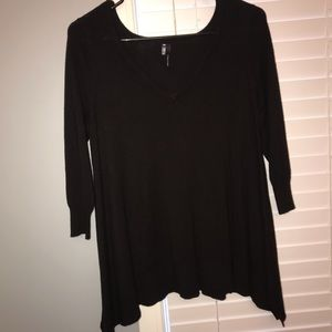 Size small 3/4 sleeve black sweater